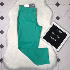 NWT crown & ivy green capris pants size 2